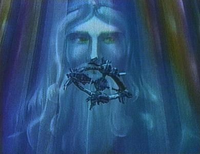 L'Odysseus devant le visage de Zeus face au Mur des Glaces Galactiques